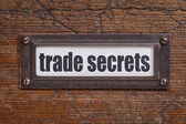 Trade secrets label — Stock Photo