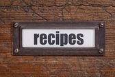 Recipes  label — Stock Photo