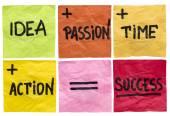 Success ingredients concept — Stock Photo