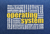 Operating system word cloud — Stock Photo