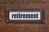 Retirement label — Stock Photo