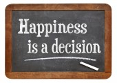 Happiness is a decision — Stock Photo