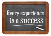 Every experience is a success — Stock Photo