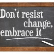 Do not resist change — Stockfoto #52192939
