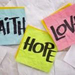 Faith, love and hope — Stock Photo