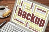 Backup word cloud — Stock Photo