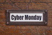 Cyber Monday - file label — Stock Photo