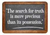 Search for truth quote — Stock Photo