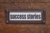 Success stories label — Stock Photo