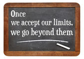 Our limits quote — Stock Photo
