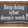 Stop doing what does not work — Stock Photo #52751197