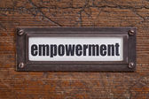 Empowerment - file cabinet label — Stock Photo