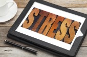 Stress word in wood type — Stock Photo