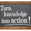 Turn knowledge into action — Stock Photo #52814517
