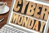 Cyber el lunes compras concepto — Foto de Stock