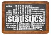 Statistics and data word cloud — Stockfoto