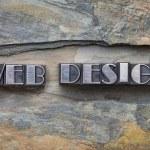 Web design in metal type — Stock Photo #53000437
