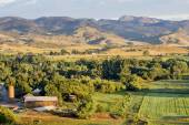 Colorado foothills farmland — Stock Photo