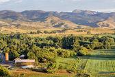 Colorado foothills farmland — Stock Photo