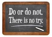 Do or do not. There is no try. — Stock Photo