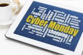 Cyber Monday shopping — Stock Photo