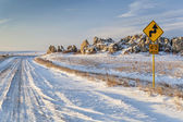 Back country road over prairie — Stock Photo