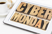 Cyber Monday shopping concept — Stock Photo