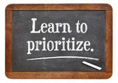 Learn to prioritize — Stock Photo