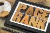 Page rank - SEO concept — Stock Photo