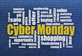 Cyber Monday shopping — Stock Photo