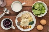 Superfood smoothie ingredients — Stock Photo