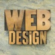 Web design in wood type — Stock Photo #54054851