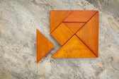 Misfit concept with tangram — Stock Photo
