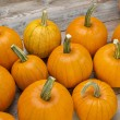 Pumpkins on a rustic wood — Stock Photo #54238867