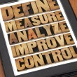 Define, measure, analyze, improve, control — Stock Photo #54316817