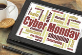 Cyber Monday word cloud — Stock Photo