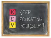 Kepp educating yourself - KEY — Stock Photo