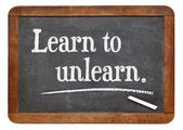 Learn to unlearn — Stock Photo