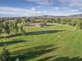 Baseball fields aerail view — Stock Photo