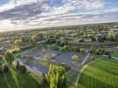 Aerial view of basketball courts — Stock Photo