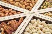 Mängd nötter abstrakt — Stockfoto