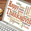 Happy Thanksgiving word cloud — Stock Photo #54896603