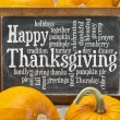 Happy Thanksgiving word cloud — Stockfoto #54943239