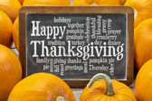 Happy Thanksgiving word cloud  — Stok fotoğraf