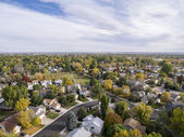 Colorado houses aerial view — Stock Photo