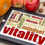 Vitality concept on digital tablet — Stock Photo #55992261