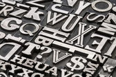 Metal type abstract — Stock Photo