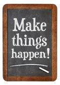 Make things happen advice — Stock Photo