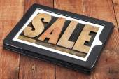 Sale word on digital tablet — Foto de Stock