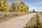 Paved bike trail — Stock Photo